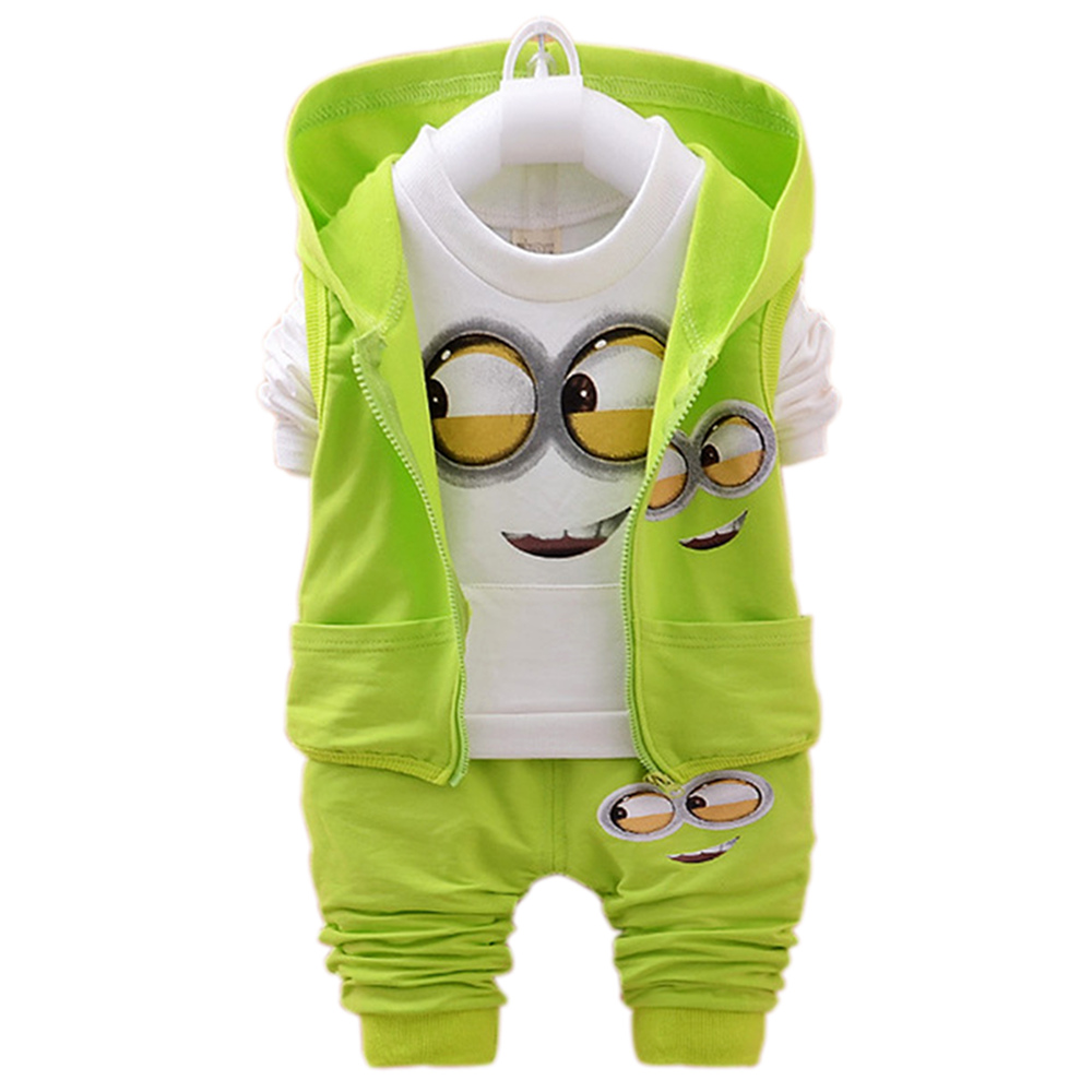 New Kids Clothes Spring Autumn Sports Minion Cartoon Baby Boys Girls Clothes Set T Shirt + Jacket + Pants Children Clothing Sets anti skid pet dog rain shoes black size l 4 pcs