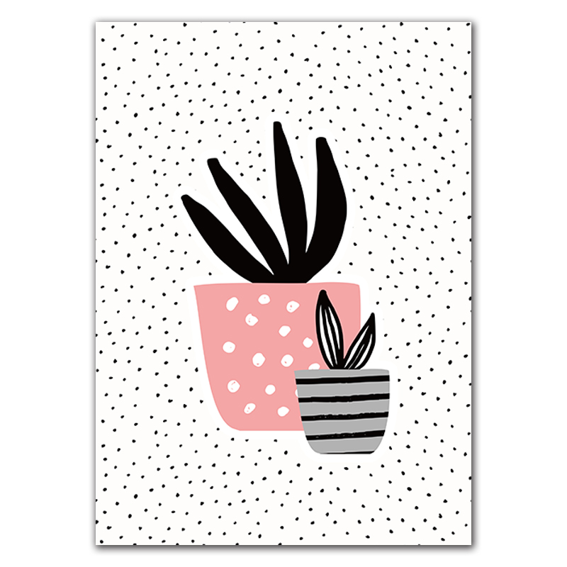 Cartoon Potted Plants Canvas Painting Prints Posters Wall Art Painting Pictures For Living Room Modern Home Decor No Frame in Painting Calligraphy from Home Garden
