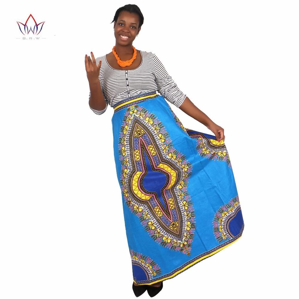 ქალთა აფრიკული კალთები გრძელი აფრიკული კალთები Maxi skirt რეტრო მოდა აფრიკული ტანსაცმელი Faldas Largas Estampadas 6XL BRW WY1370