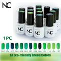 Nail Soak Off UV Gel Nail Polish French Manicure Green Vernis a Ongle Vert Mirror Nail Polish Esmalte em Gel Primer Nail Varnish