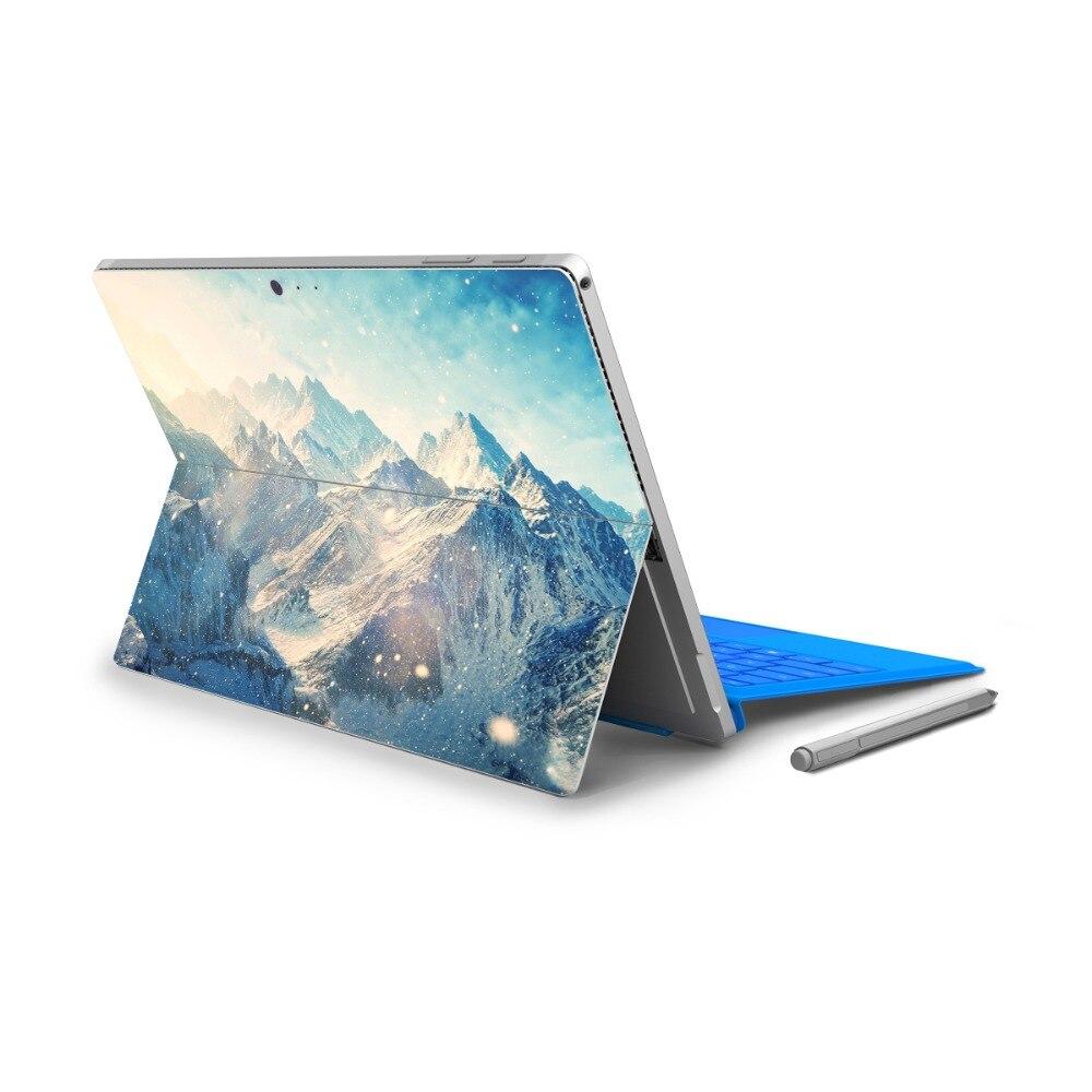 YCSTICKER ויניל 4-2018 מכירה חמה משטח מיקרו פרו חזרה מלא מדבקות Tablet Netbook Ultrabook נוף מדבקת לוגו עור לחתוך
