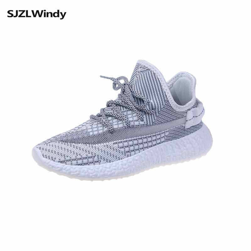 woman shoes spring 2019 Korean edition coconut sneaker casual fashion breathable joker fly weave running shoes in Women 39 s Vulcanize Shoes from Shoes