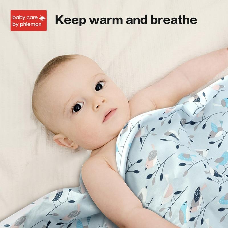 BabyCare 105x105cm Baby Blanket Cotton Baby Muslin Swaddle Bedding Quilt Newborn For Bed Sofa Basket Stroller Blanket Bath Towel in Blanket Swaddling from Mother Kids