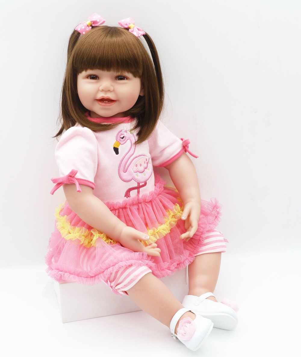 DollMai new girl bebes reborn silicone dolls large size 61cm reborn babies dolls toys for children gift princess alive bonecasDollMai new girl bebes reborn silicone dolls large size 61cm reborn babies dolls toys for children gift princess alive bonecas
