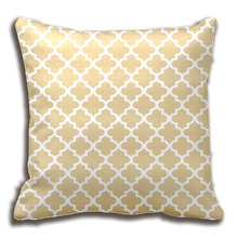 Moroccan Quatrefoil Pattern Pillow | Neutral Beige Throw Cushions Decorative Cushion Cover Pillow Case Customize Gift By Lvsure