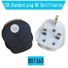 Beyaz Siyah 3 Pin İNGILTERE Şebeke Üst fiş konnektörü kordon adaptörü 13A 3250W Cihaz Güç Soketi Sigortalı Adaptör Ev