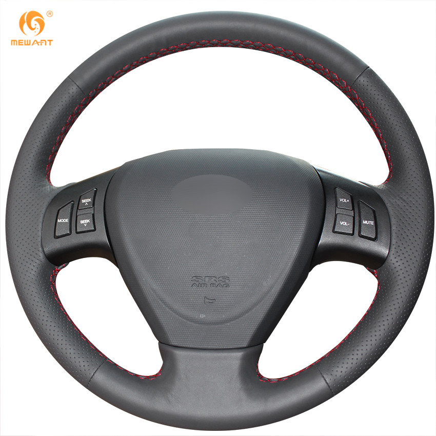 MEWANT Black Genuine Leather Car Steering Wheel Cover for Chery A3 Fengyun 2 Fulwin 2 genuine leather car steering wheel cover for audi a4l a6l a3 q3 q5 q7 car accessories styling