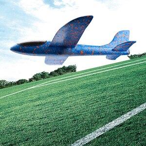Image 5 - EPP Schaum Hand Werfen Flugzeug Outdoor Starten Segelflugzeug Flugzeug Kinder Geschenk Spielzeug 48CM Interessante Spielzeug 10 teile/los freies schiff dropshipping