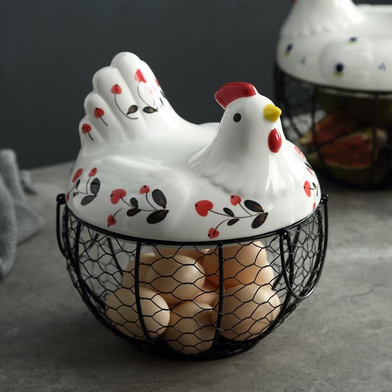 Creative hen storage basket Household egg baskets potato garlic carrying frame Fruit basket storage baskets kitchen