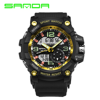Fashion Sanda Brand Children Watches LED Digital Quartz Watch Boy Girl Student Multifunctional Waterproof Wristwatches For