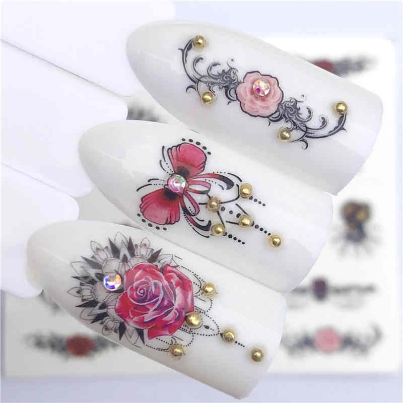 YZWLE 2019 NEUE Designs Wolf/Vintage/Flamingo High-end-vintage halskette Designs Für Nail art Wasserzeichen Tattoo dekorationen