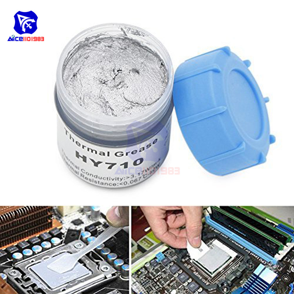 HY710 10g Silver Thermal Conduction Silicone Grease Paste Compound Chipset Cooling For CPU GPU IC LED Chips