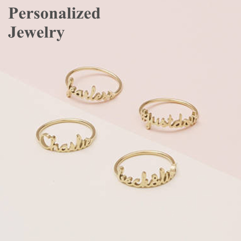 Any Personalized Rings Custom Name Design Handwriting Initials