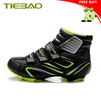 Tiebao الشتاء دراجة هوائية جبلية أحذية sapatilha ciclismo الرجال النساء الذاتي قفل دراجة ركوب الأحذية chaussure vtt SPD حذاء رياضة