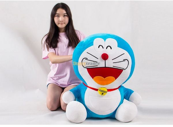 Fancytrader 26'' / 65cm Cute Giant Stuffed Doraemon Toy, Best Gift for Kid, 2 Expressions Available! Free Shipping FT50041 fancytrader 79 lovely super soft giant stuffed jumbo dolphin plush toy 200cm 2 colors 2 sizes free shipping ft50142