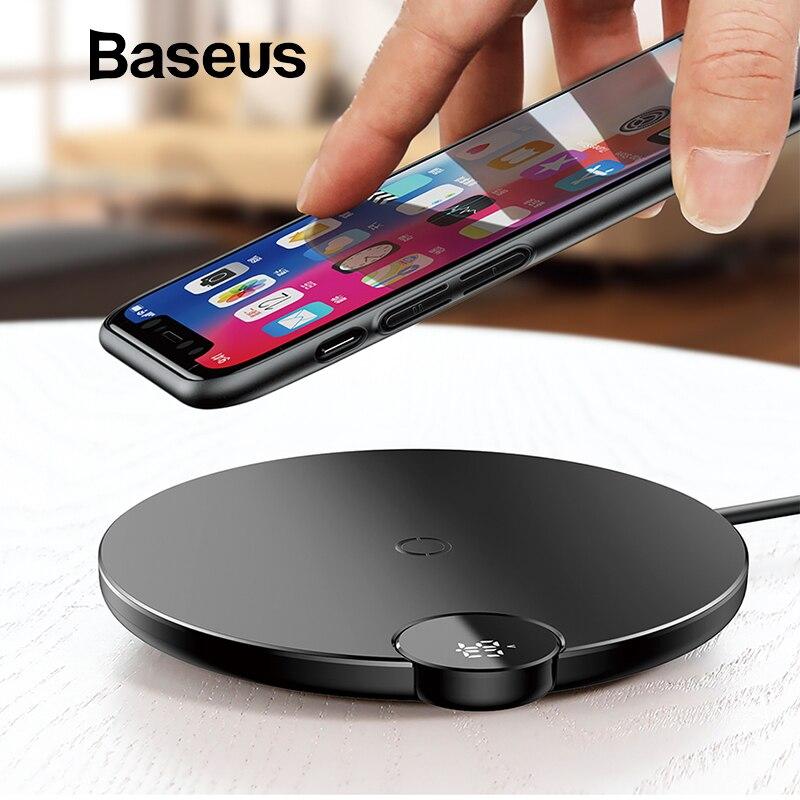 Baseus LCD Digital Display Drahtlose Ladegerät für iPhone XS Max XR X 8 Qi Wireless Charging Pad für Samsung Galaxy s8 S9 + Hinweis 9