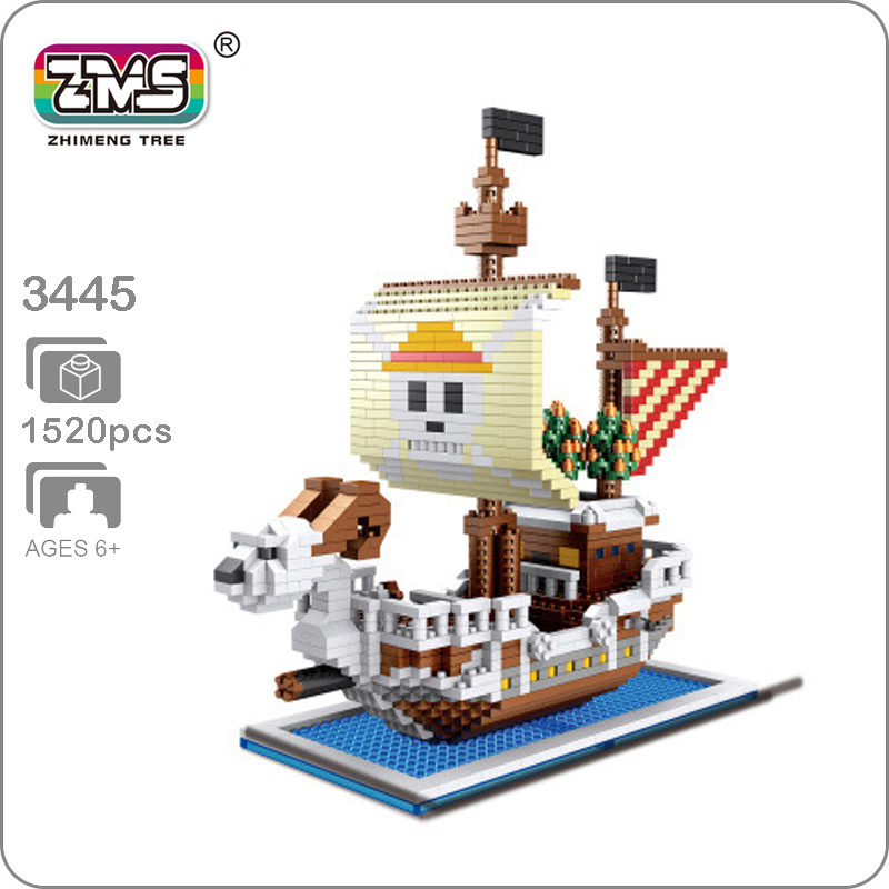 Building & Construction Toys Ingenious Japan Anime One Piece Micro Diamond Building Block Edward Newgate Moby Dick Pirate Ship Nanoblock Assemble Model Bricks Toys Stacking Blocks