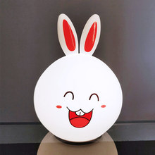 New Style Rabbit LED Lamp Night Light Dimmable Touch Sensor Tap Control Multicolor Bunny For Children Baby Kids Bedside Lamp ins hot h80cm rabbit children led dimmable bedside table lamp led nijntje rabbit baby kids bedroom decor lampen