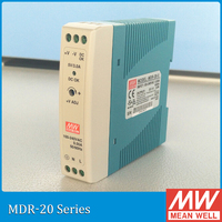 Geunine MEAN WELL MDR 20 24 20w 24v Din Rail Mounted Power Supply UL TUV CB