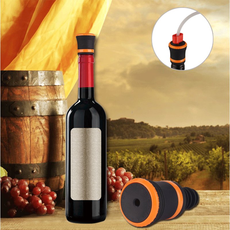 Wine Bottle Stoppers Working With Vacuum Food Sealer Keeping Wine Fresh 5pcs/lot S160