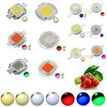 Светодиодный чип высокой мощности, 1 Вт, 3 Вт, 5 Вт, 10 Вт, 20 Вт, 30 Вт, 50 Вт, 100 Вт, COB SMD LED Bead White RGB UV Grow, полный спектр, 1 3, 5, 10, 20, 30, 50, 100 Вт