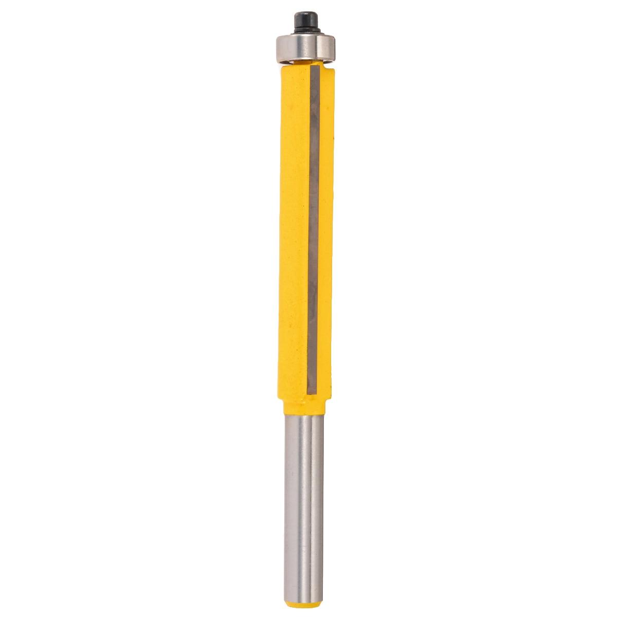 "6mm Flush Trim Bit 1//4/"" Shank Router Bit Bearing Cutting Edge Woodworking Tool"