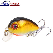 Купить с кэшбэком SEAPESCA Mini Crank Bait Fishing Lures 3cm 1.6g Sinking Swimbaits Bass Pike Japan Lifelike Pesca Wobblers Fishing Tackle JK205A