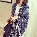 Comercio al por mayor mujer señoras del algodón tippet pashmina mantón de la bufanda del cabo femenino femme venta