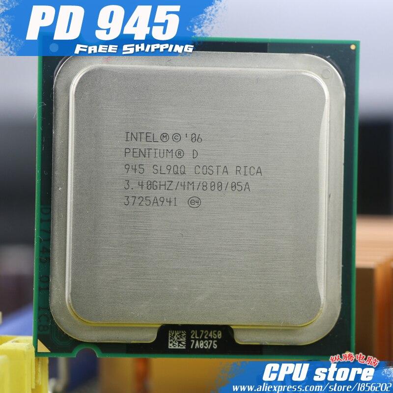 Intel Pentium D 945 CPUプロセッサー(3.4Ghz / 4M / 800GHz)ソケット775送料無料pd 945 pd945 partes delケーブル同軸