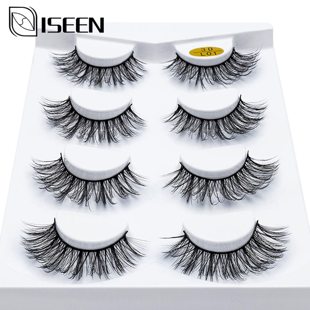 1/2/4 Pairs Natural False Eyelashes Fake Lashes Long Makeup 3D Mink Lashes Eyelash Extension Mink Eyelashes For Beauty 13 Style