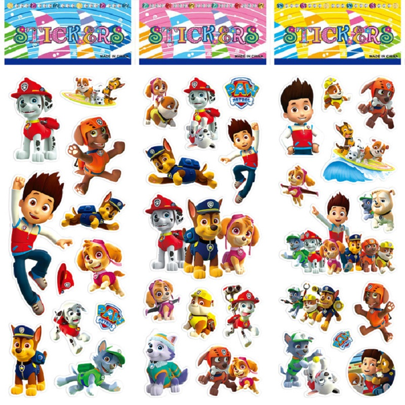 6pcs/set Paw Patrol Dog Sticker toy Patrulla Canina Action Figures Toy Kids Children Toys Gifts