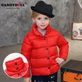 2017 Fashion Girls Cotton Jackets Turtleneck Red Kids Clothes Thickening Winter Warm Children Clothing High-end Outwear Sale