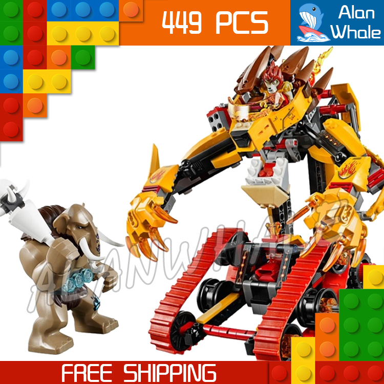 449pcs Laval's Fire Lion Mobile Mech Transform Tank Figure 10295 Building Blocks Children Classic Toy  Compatible With LegoING-in Blocks from Toys & Hobbies