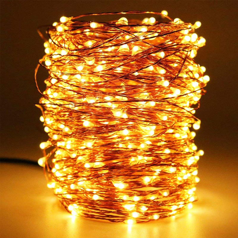Silver Fairy lights Wire LED String lights 1M 2M 3M 5M 10M Christmas outdoor lights Halloween Decoration home led Strip light 2 5m 10leds ghost led string lights halloween decoration