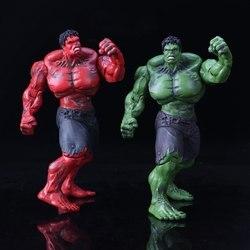 Marvel's The Avengers czerwony i zielony Hulk pcv figurka zabawka Cartoon Hulk manekin sklepowy Jouet prezent urodzinowy dla dzieci Brinquedos w Figurki i postaci od Zabawki i hobby na