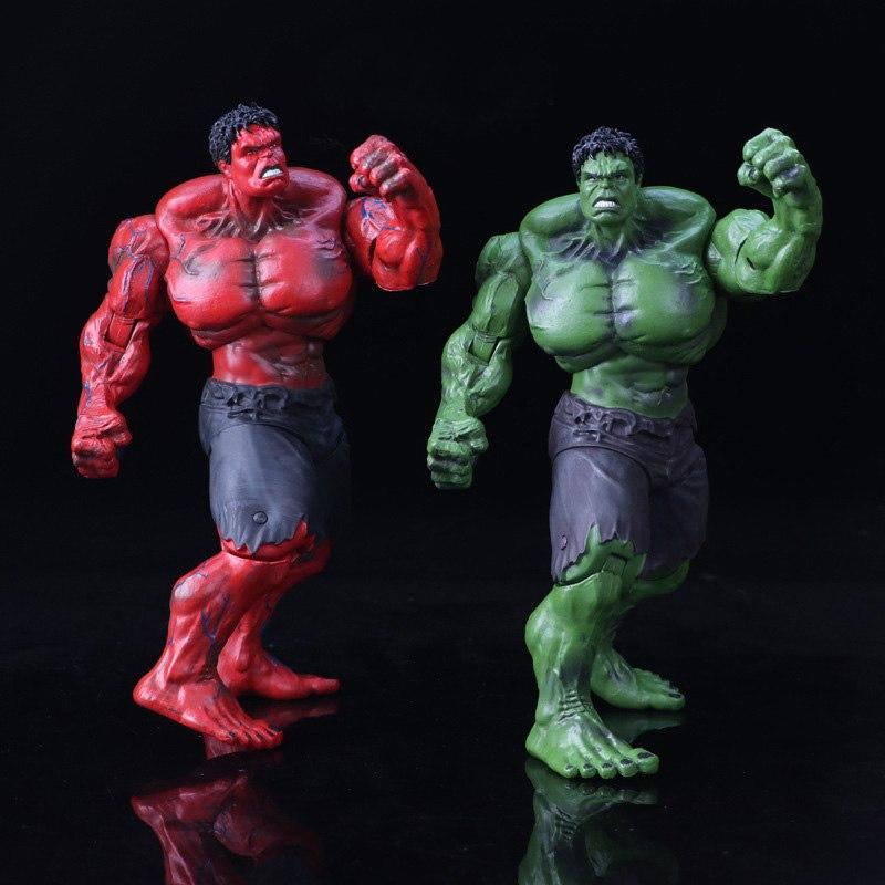Marvel's The Avengers rouge & vert Hulk Pvc figurine Jouet dessin animé Hulk modèle d'affichage Jouet enfants cadeau d'anniversaire Brinquedos