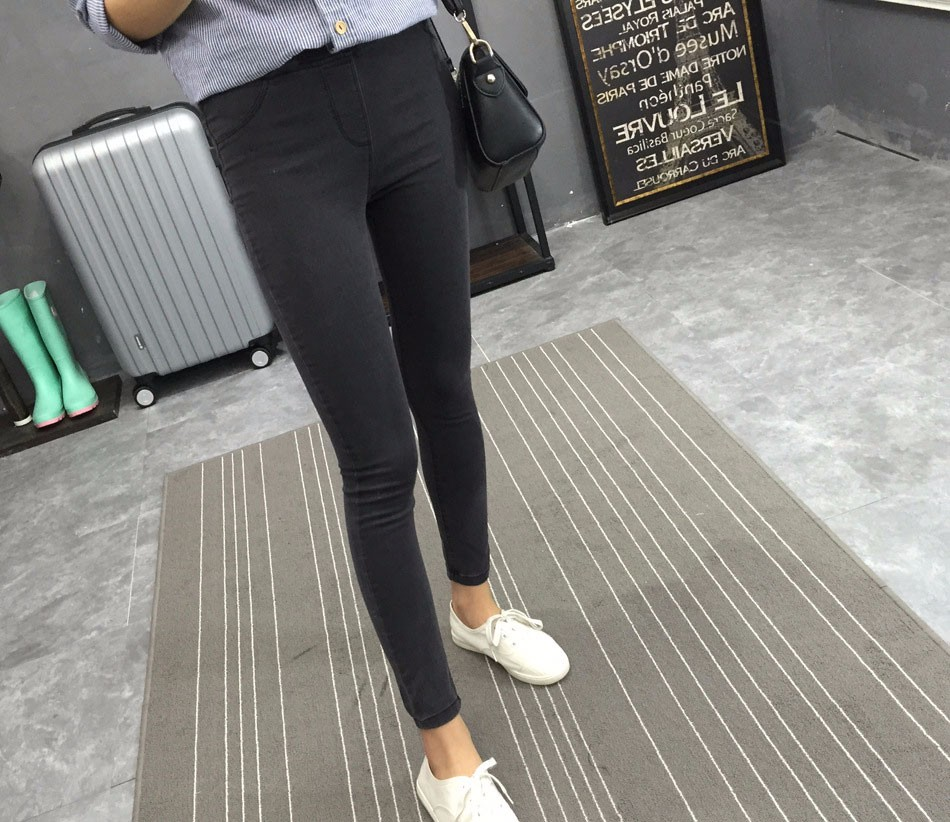 BIVIGAOS Basic Skinny Womens Jeans Ankle Pencil Pants Slim Elastic Denim Pants Jean Leggings Female Cotton Jeggings Jeans Women 23