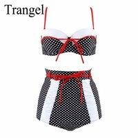 Trangel Plus Size 3XL High Waist Swimsuit 2017 Sexy Bikini Women Swimwear Push Up Bikini Set