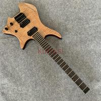 Steinberg electric guitar, wood color tiger guitarra, birthday gift to friends, boutique production, shipping.