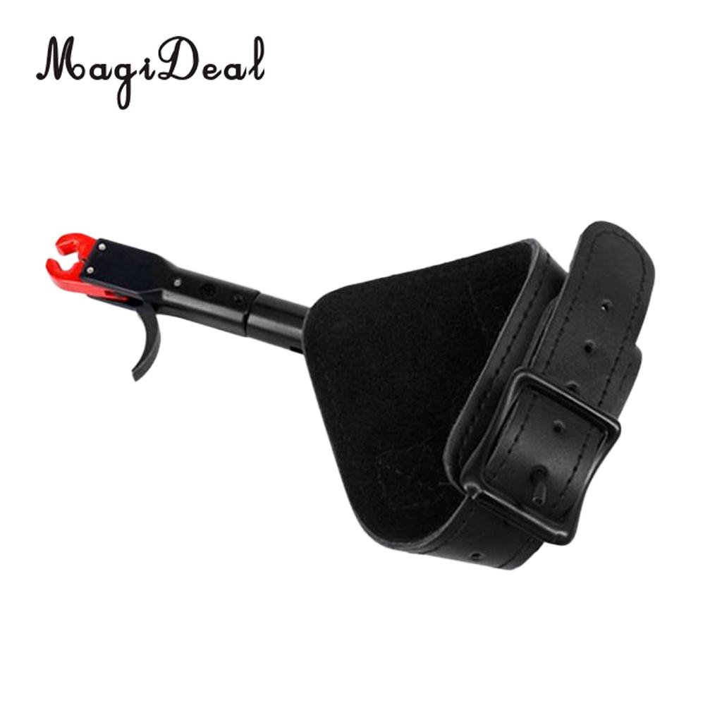MagiDeal 1 Piece Archery Release Aid Compound Bows Shooting Tool Thumb Activated Style