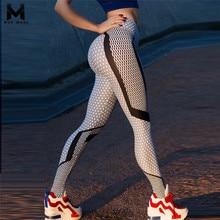 Hot 2018 New Black And White Honeycomb Printed Women's Leggings High Waist Pants Push Up Fitness Leggings Elastic Slim Jeggings