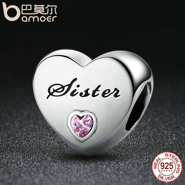 Sterling Silver Sister's Love Charm