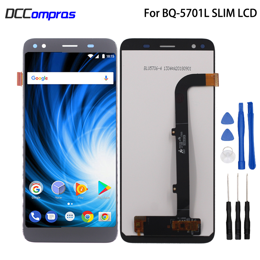For BQ-5701L SLIM LCD Display Touch Screen Digitizer Replacement For BQ-5701L SLIM Phone Parts With Free ToolsFor BQ-5701L SLIM LCD Display Touch Screen Digitizer Replacement For BQ-5701L SLIM Phone Parts With Free Tools