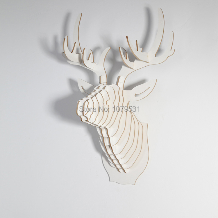 White Deer Head Wall Decor aliexpress : buy [white] deer head wall hanging home