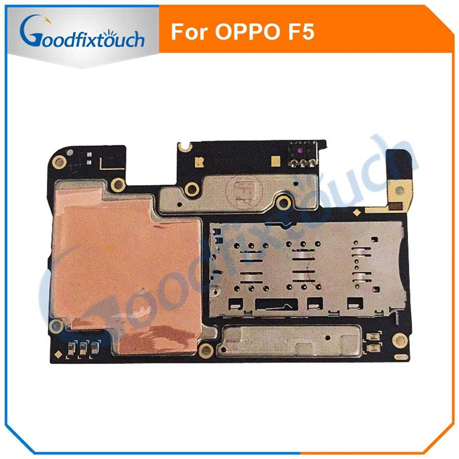 Oppo F5 マザーボード 64 グラム 32 oppo F5 メインボードフレックスケーブルの 3g バージョン電話交換テストオリジナル品質作業