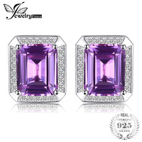JewelryPalace Solid 925 Sterling Silver 8 6ct Alexandrite Cuff Links Fine Best Gift For Engagement Birthday