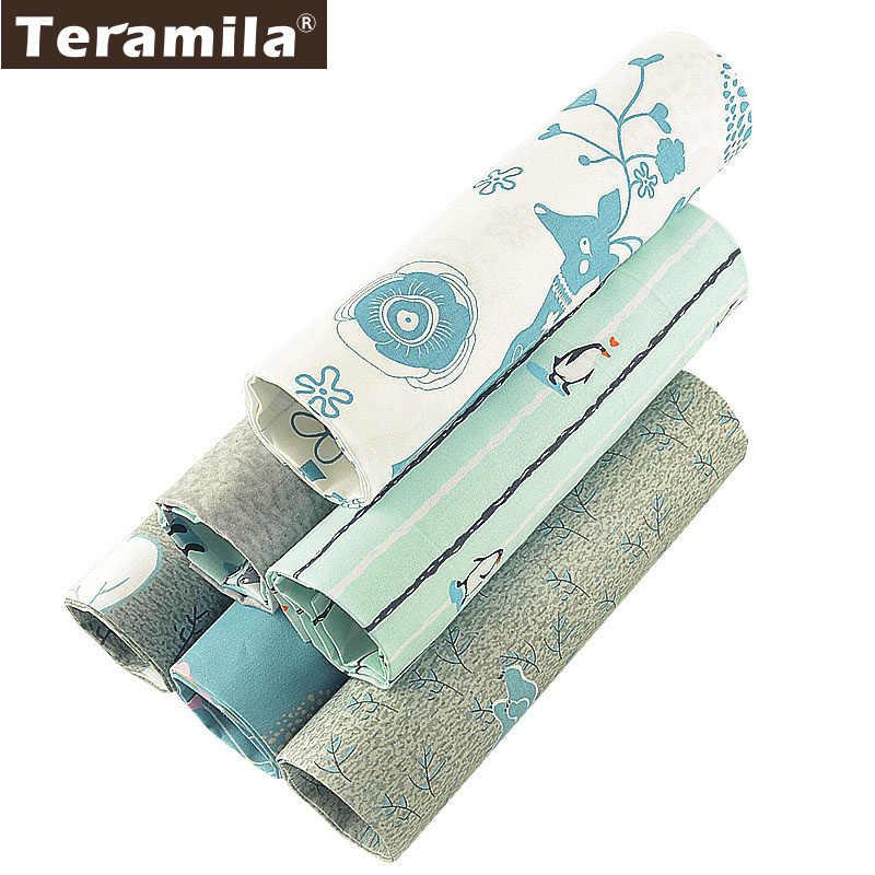 Teramila الحيوانات الجليد تصميم النسيج الفراش حك لتقوم بها بنفسك خليط Telas الخياطة المواد القطن اللحف النسيج Tissu 6 قطعة/الوحدة
