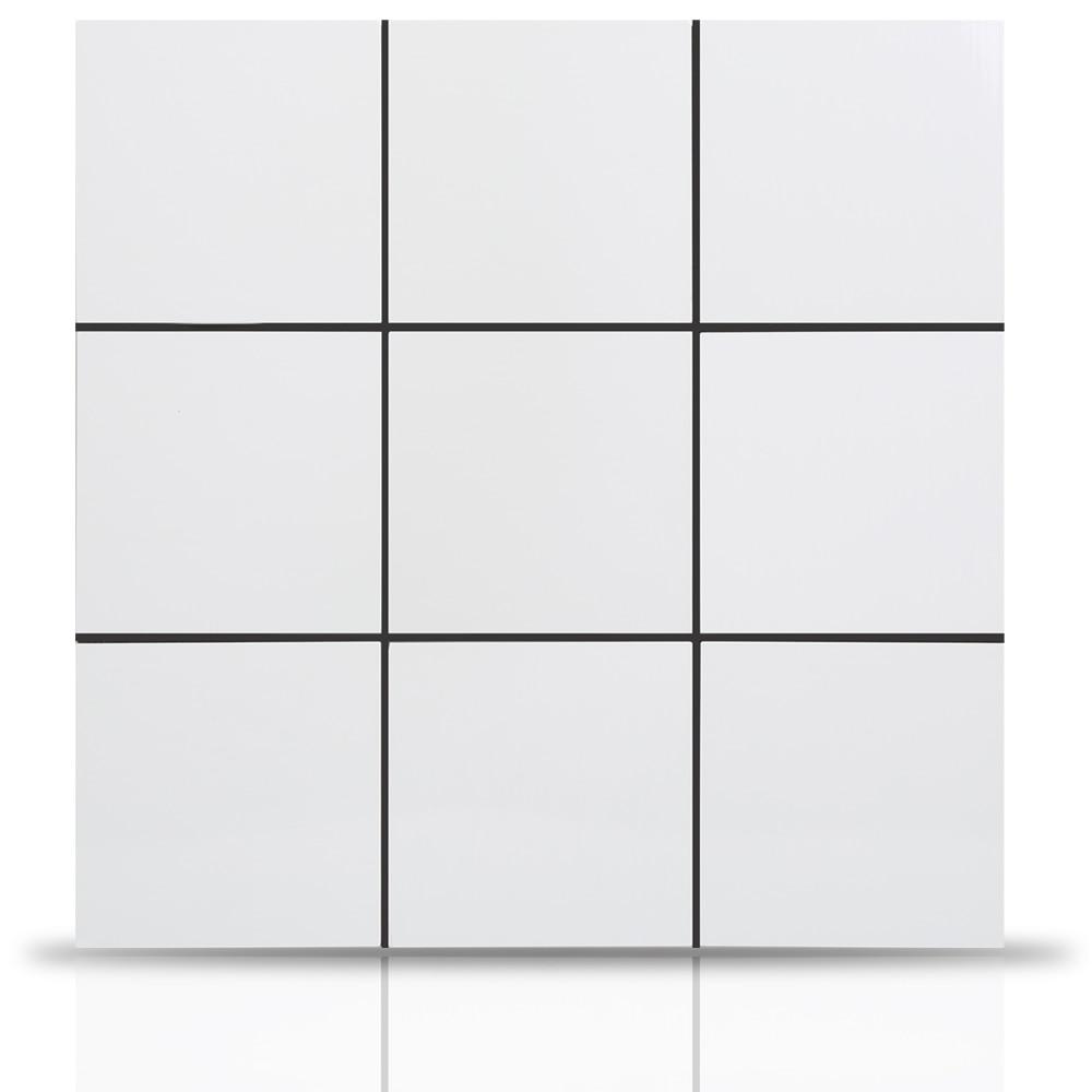 En gros 4 pièces 12 pouces carré nordique Puzzle Peel et bâton tuile en métal dosseret pour carreaux de cuisine autocollant mural 3D auto-adhésif