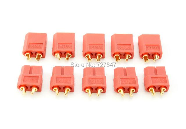 LOT 5 PAIRES DE CONNECTORS XT60 XT 60 (5 x Male +5 x Femelle)