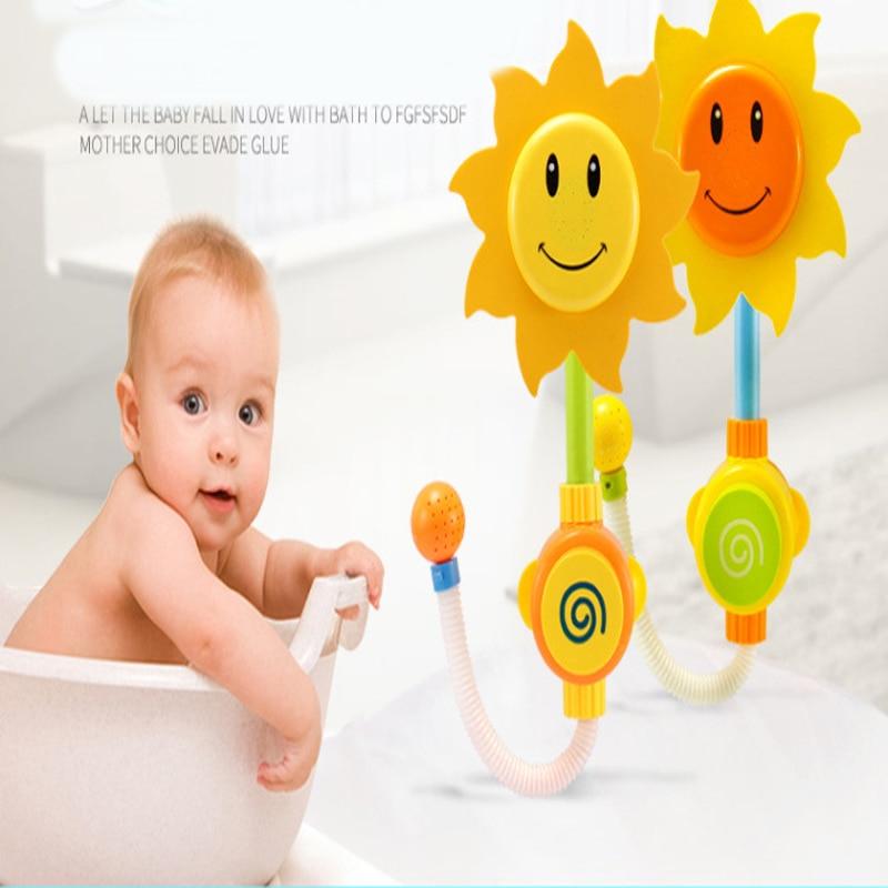 42CM Children Cartoon Baby Bath Bathtub Sunflower Sunflower Sprinkler Toys For Children Hobbies Action Toy Figures